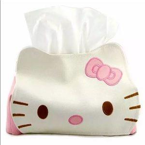 NEW HELLO KITTY KLEENEX TISSUE COVER SO CUTE!!